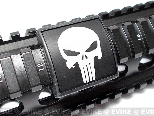 Custom Gun Rails (CGR) Small Laser Engraved Aluminum Rail Cover - Punisher