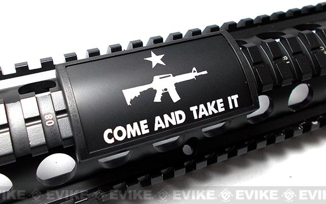 Custom Gun Rails (CGR) Large Laser Engraved Aluminum Rail Cover - Come and Take It