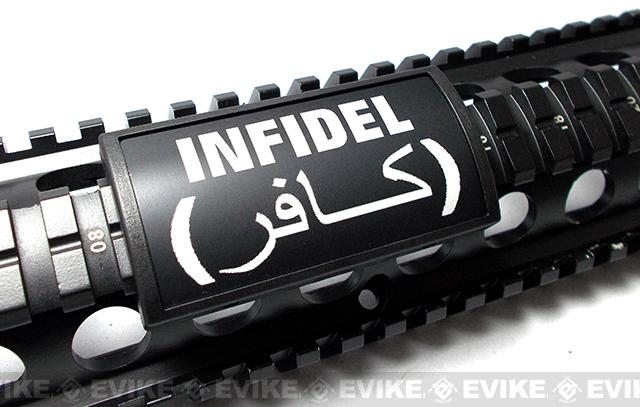 Custom Gun Rails (CGR) Large Laser Engraved Aluminum Rail Cover - Infidel