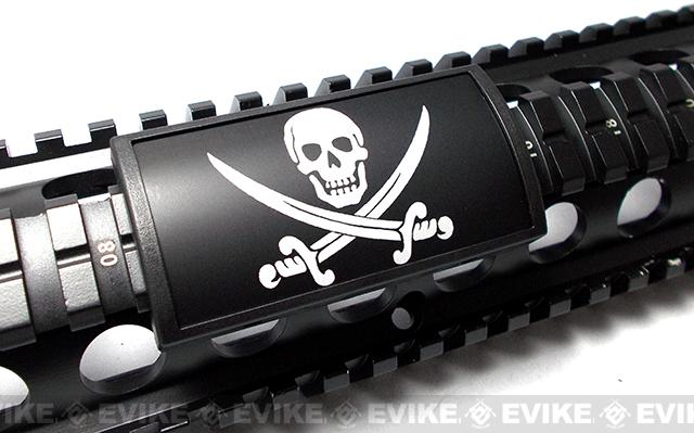 Custom Gun Rails (CGR) Large Laser Engraved Aluminum Rail Cover - Calico Jack