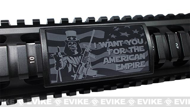 Custom Gun Rails (CGR) Large Laser Engraved Aluminum Rail Cover - Uncle Darth, I Want You