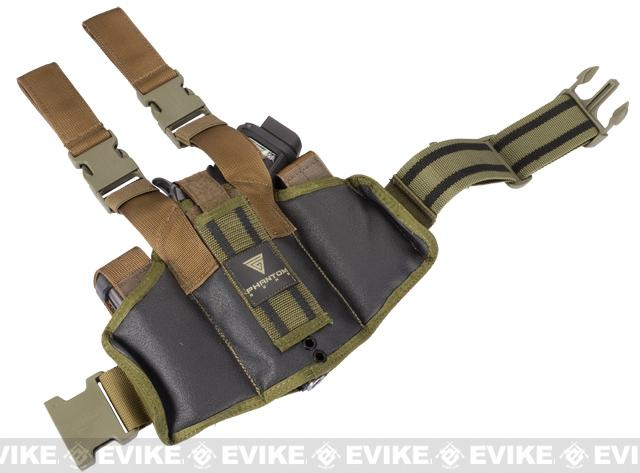 Phantom Gear Navy Seal Drop Leg Thigh Holster Rig - OD Green