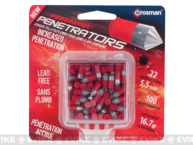 Crosman .22 Cal. Powershot Fast Flight Penetrators  16.7 Grain - 100 Count (Red)