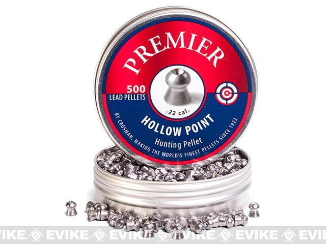 Crosman Premier 14.3gr Hollow Point .22 Cal. Pellets 500ct (FOR AIRGUN USE ONLY)