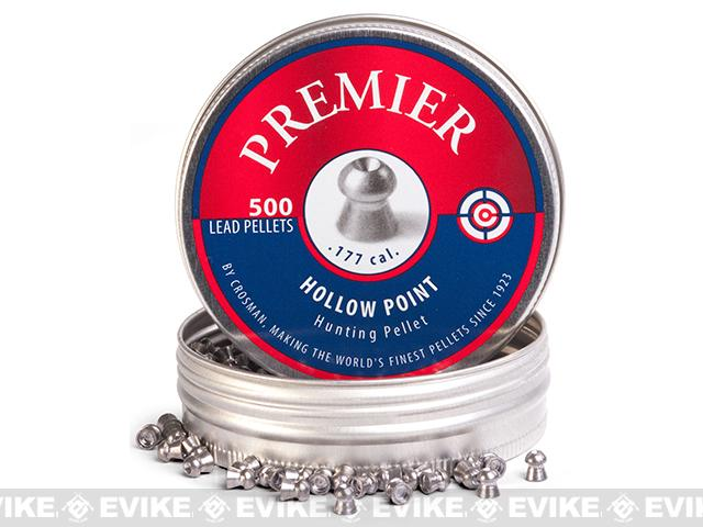 Crosman Premier 7.9gr Hollow Point .177 Cal. Pellets 500ct (FOR AIRGUN USE ONLY)