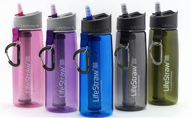 LifeStraw Go Personal Water Bottle with Integrated LifeStraw Filtration - Blue