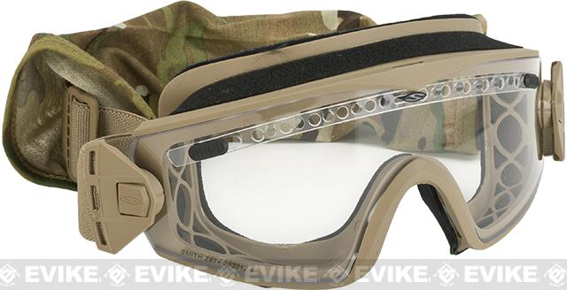 Smith Optics Elite LOPRO Regulator Goggles with Clear & Gray Lenses - Tan 499