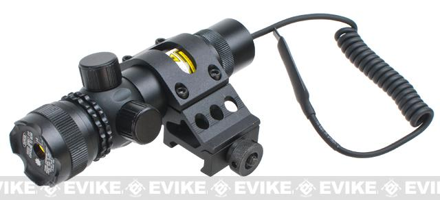 AIM Tactical Green Laser with External Adjustments - Offset Mount