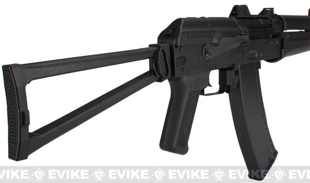 Lancer Tactical AK74U Airsoft AEG Rifle - Black