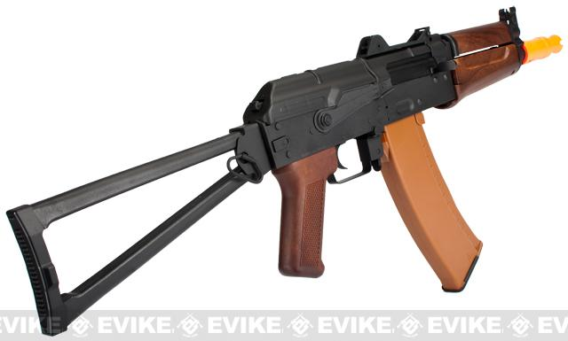 Pre-Order ETA January 2017 Lancer Tactical AK74U Airsoft AEG Rifle - Imitation Wood