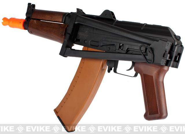 Lancer Tactical AK74U Airsoft AEG Rifle - Imitation Wood