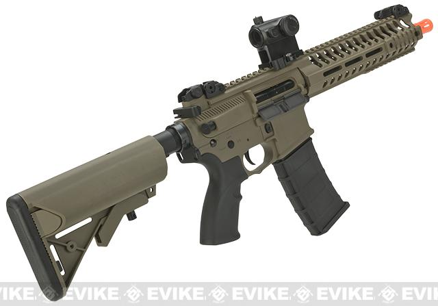 Lancer Tactical 10.5 Combat LT101 M4 SBR Airsoft AEG Rifle - Coyote