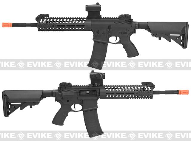 Lancer Tactical 14.5 Combat LT102 M4 Carbine Airsoft AEG Rifle - Black