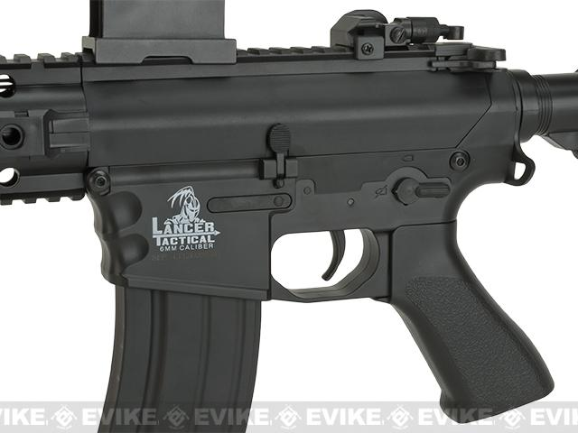 Lancer Tactical Polymer 10 Free Float M4 LT-12B Airsoft AEG Rifle w/ Metal Gear Box  - Black