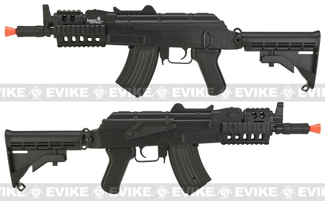 Lancer Tactical Polymer AKS-74U RIS LT-16C Airsoft AEG Rifle w/ Metal Gear Box  - Black
