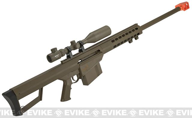 Lancer Tactical LT-20B M82 Polymer Spring Powered Airsoft Sniper Rifle - Dark Earth
