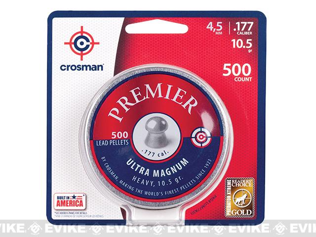 Crosman Premier .177 Cal.  10.5gr Domed Pellet 500ct (FOR AIRGUN USE ONLY)