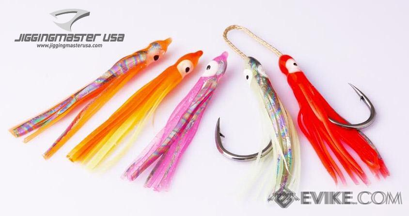 Jigging Master Rubber Squid Jig Hook Skirt (Size: 12cm #1 White Glow)