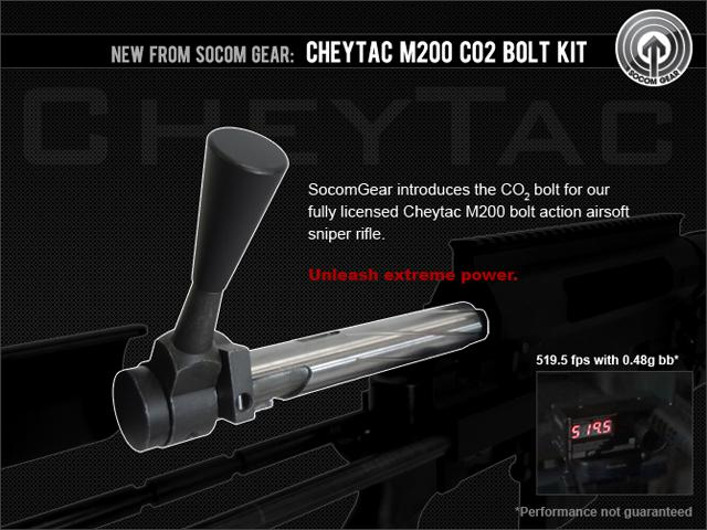 SOCOM Gear CO2 Bolt Kit for the Cheytac M200 Intervention Shell Ejecting Gas Sniper Rifle