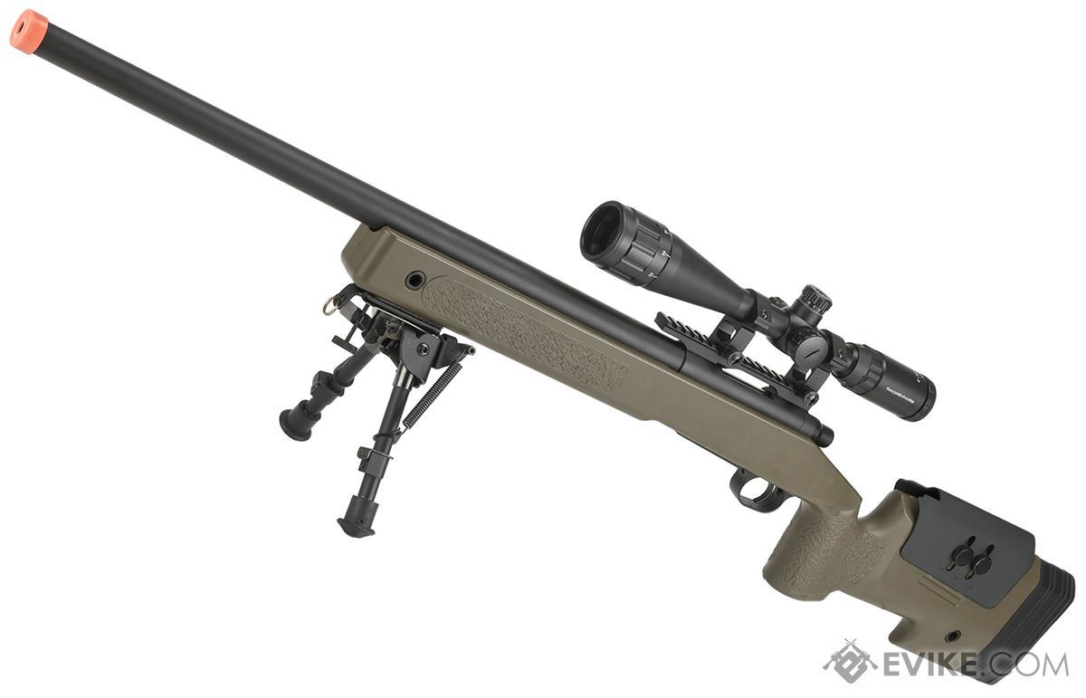 PDI Custom S&T USMC M40A3 Bolt Action Airsoft Sniper Rifle w/ PDI Internals (Model: Desert)