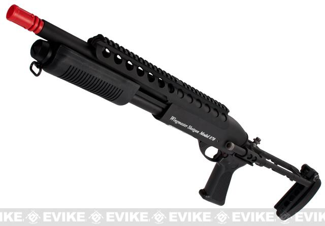 G&P M870 P.T.E. High Power Airsoft Shotgun - Evil Beast Custom with CQC Barrel