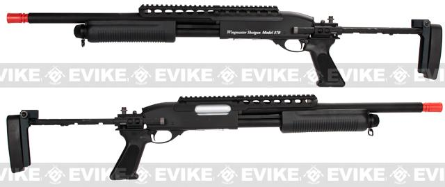 G&P M870 P.T.E. High Power Airsoft Shotgun - Evil Beast Custom with Long Barrel