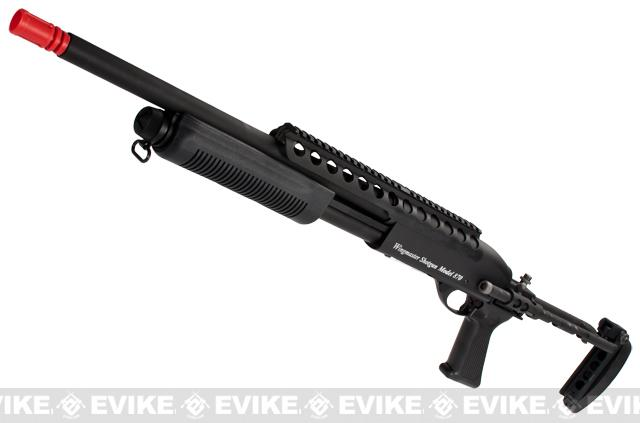 G&P M870 P.T.E. High Power Airsoft Shotgun - Evil Beast Custom with Long Barrel