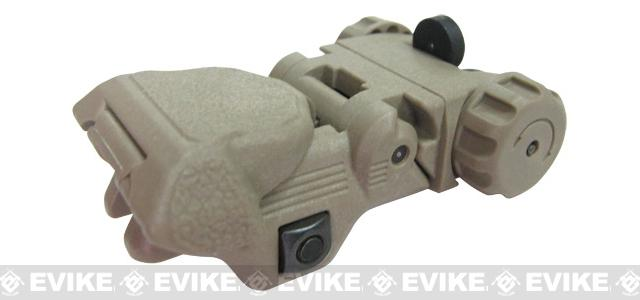 ICS CXP Flip-up Rear Rifle Sight - Tan
