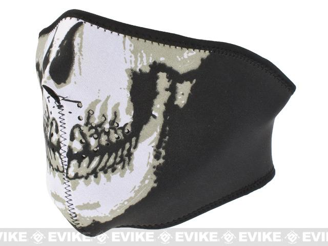 Neoprene Adjustable Half Face Mask - Skull