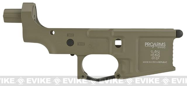 ICS Pro-Arms Armory MK3 Full Metal Aluminum Lower Receiver for Airsoft AEG Rifles - Tan