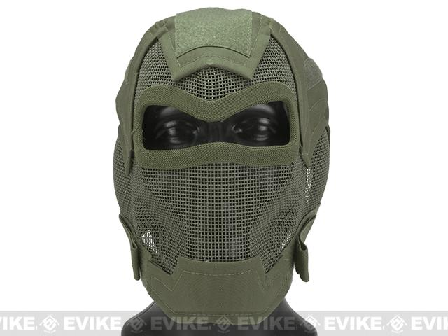 Matrix Iron Face Carbon Steel Watcher Gen7 Full Face Mask - OD Green