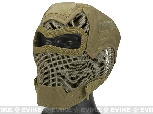 Matrix Iron Face Carbon Steel Watcher Gen7 Full Face Mask - Tan