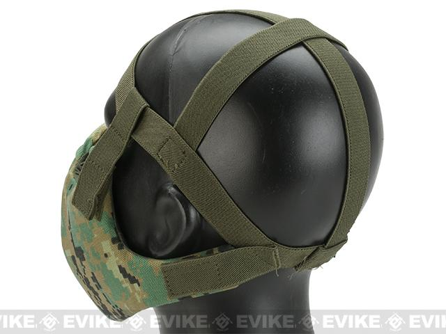 6mmProShop V5 Breathable Padded Dual Layered Nylon Half Face Mask (w/ Bump Helmet Straps) - AOR2