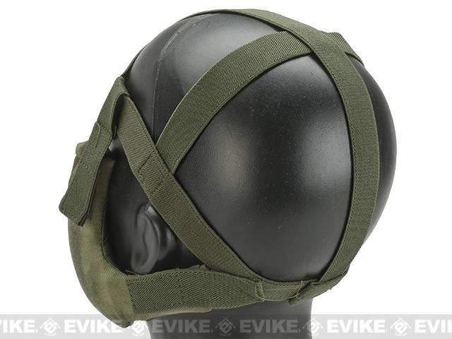 6mmProShop V5 Breathable Padded Dual Layered Nylon Half Face Mask (w/ Bump Helmet Straps) - Arid Foliage