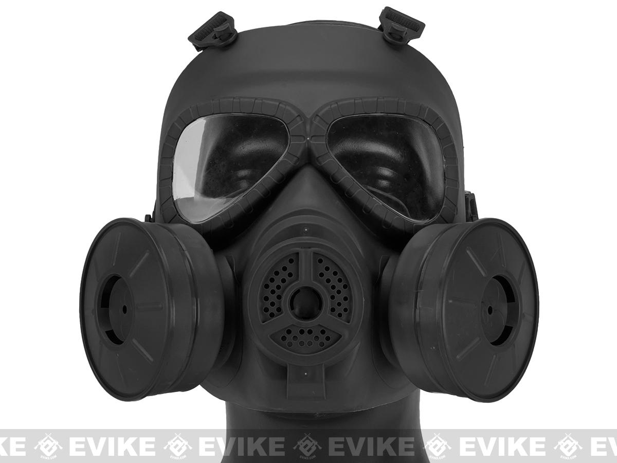 Matrix Mock Costume Gas Mask with Twin Fans - Black