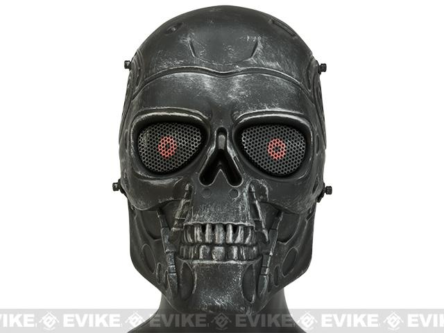 z Matrix High Speed Wire Mesh T800 Mask Inspired by Terminator - Metal