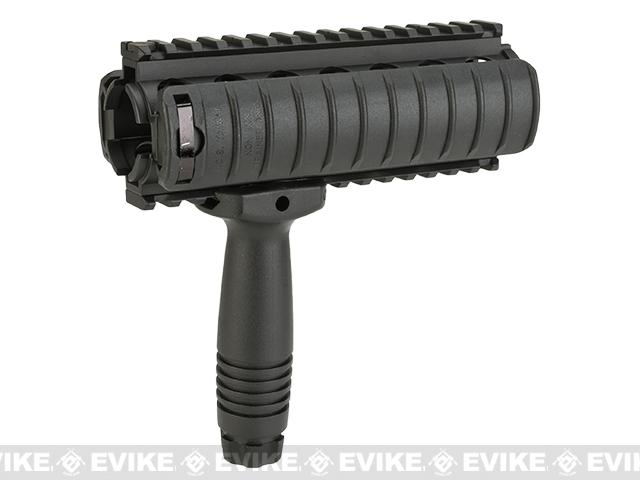 z ICS Tactical Carbine Length Quad Rail w/ Vertical Grip for M4 Series Airsoft AEG Rifles