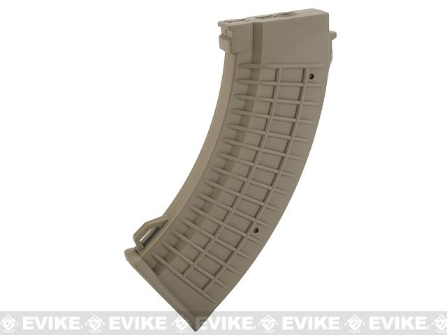 King Arms AK 110 rounds Thermal Style Mid-Cap Magazine - Dark Earth