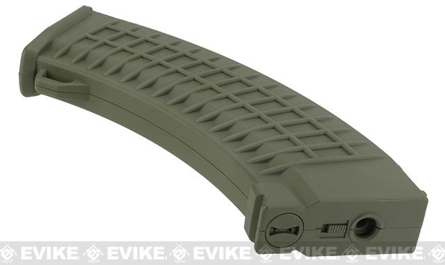King Arms AK 110 rounds Thermal Style Mid-Cap Magazine - OD Green