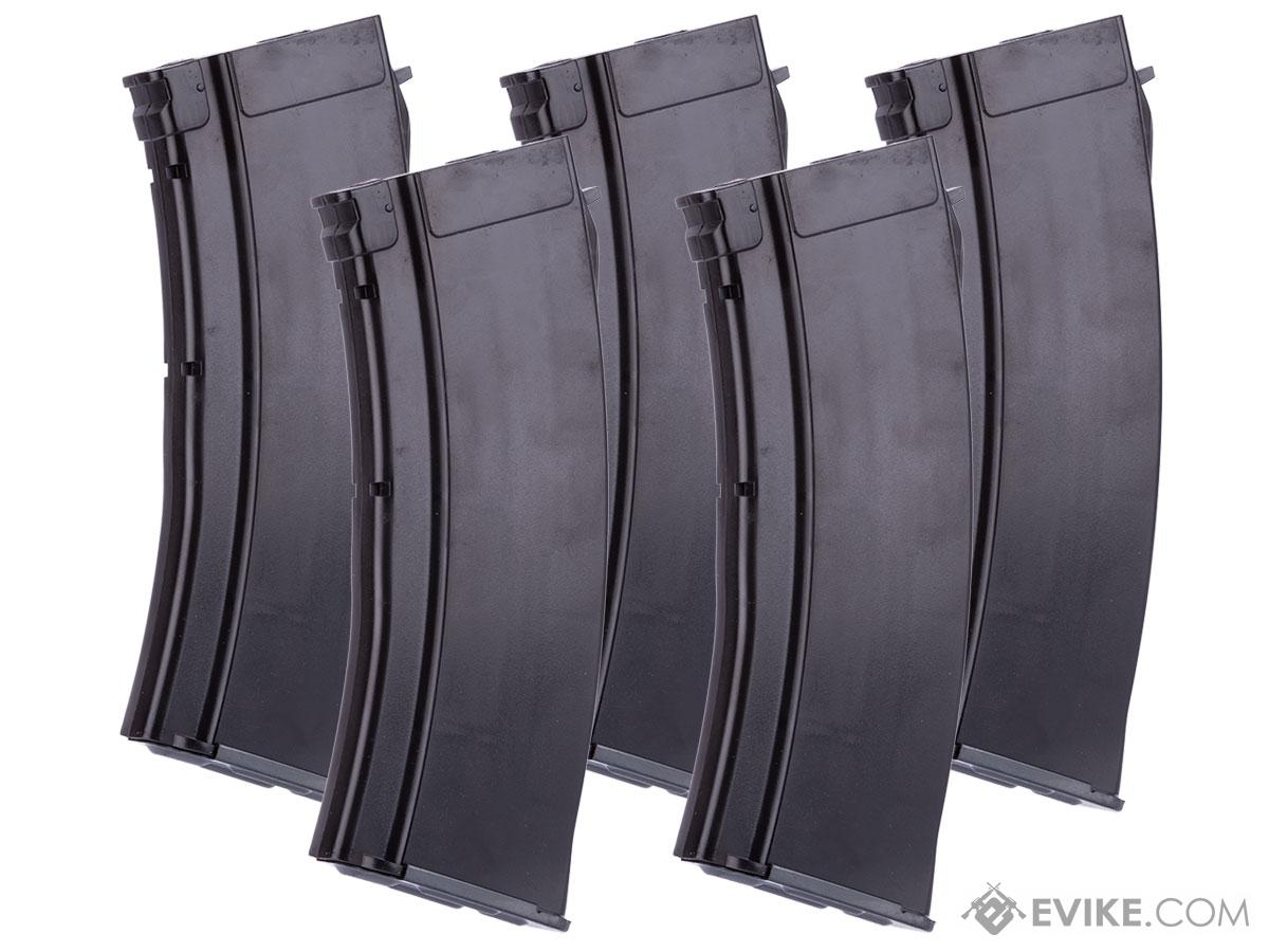 MAG 100 Round Mid-cap Magazine For AK Series Airsoft AEG (Color: Plum / Pack of 5 Magazines)