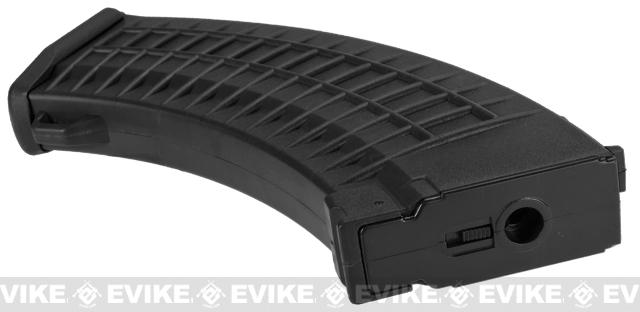 Matrix 110rd Waffle Type Polymer Magazine for AK Series Airsoft AEG Rifles - Black