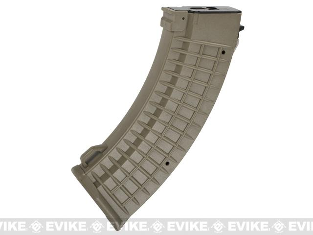 Matrix 110rd Waffle Type Polymer Magazine for AK Series Airsoft AEG Rifles - Dark Earth