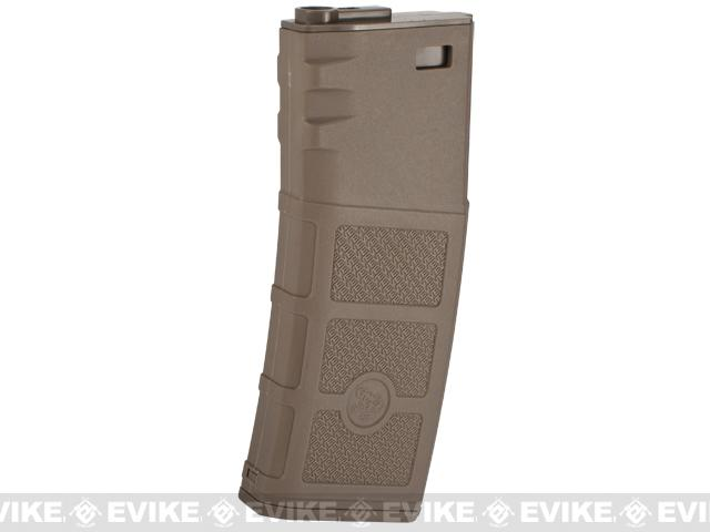 G&P Evike High RPS 130rd Polymer Mid-CAP Magazine for M4 M16 Airsoft AEG Rifles - Dark Earth /One