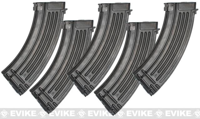 G&P 150rd High Precision Metal Mid-Cap Magazine for AK Series Airsoft AEG Rifles - Set of 5