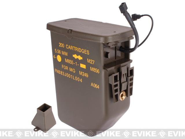 G&P 3000rd Auto-Loading Ammo Box for M249 Airsoft AEG Machine Guns
