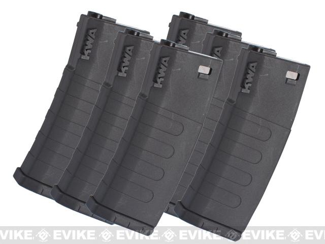 KWA K120 120rd Polymer Midcap Magazine for M4 / M16 Series Airsoft AEG Rifles - Set of 6