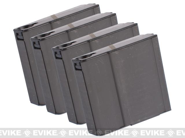 MAG Compact 70rd Metal Magazines for M14 Series Airsoft AEG Rifles - Set of 4