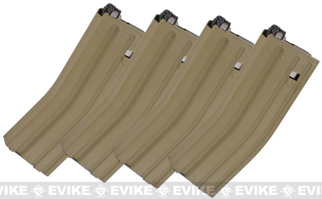 MAG 170rd Magazine for PTW / CTW Series Airsoft AEG Rifles - Tan / Set of 4
