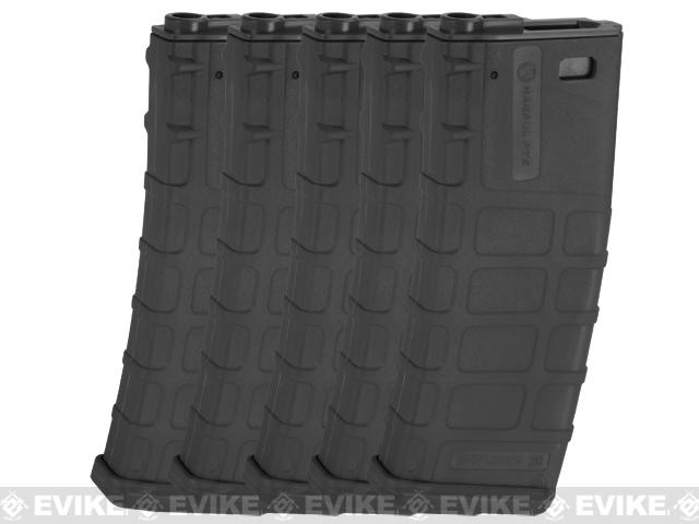 Magpul PTS Licensed 360rd High Cap Mag for M4/M16 Series Airsoft AEG (Black / Set of 5)
