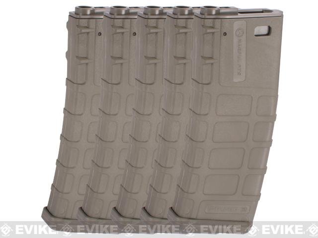 Magpul PTS Licensed 360rd High Cap Mag for M4/M16 Series Airsoft AEG (Dark Earth / Set of 5)
